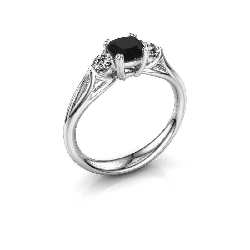 Verlobungsring Amie cus 925 Silber Schwarz Diamant 0.900 crt