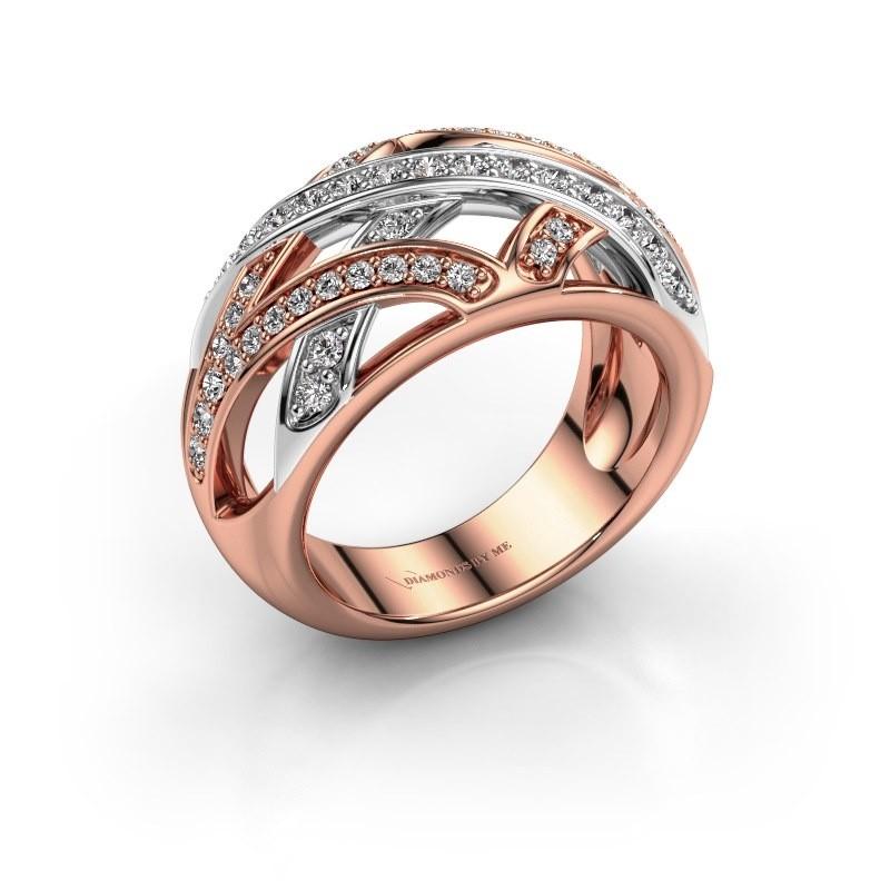Ring Yinthe 585 rosé goud diamant 0.60 crt
