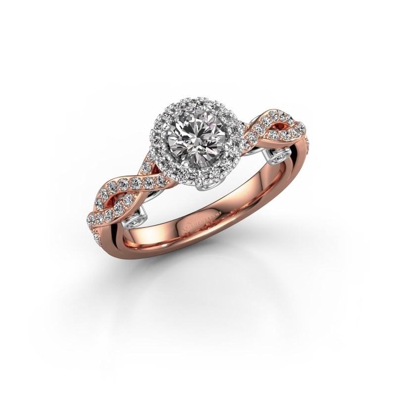 Verlovingsring Madeleine 585 rosé goud lab-grown diamant 0.972 crt