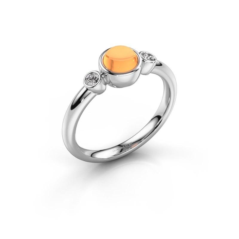 Ring Muriel 925 zilver citrien 5 mm