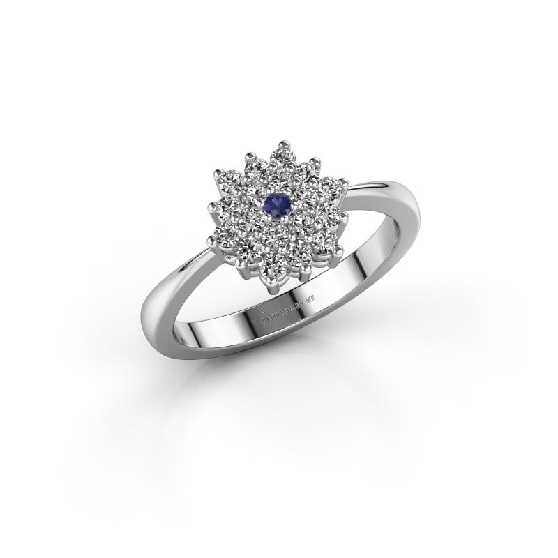 Engagement ring Vickey 1 585 white gold sapphire 1.8 mm