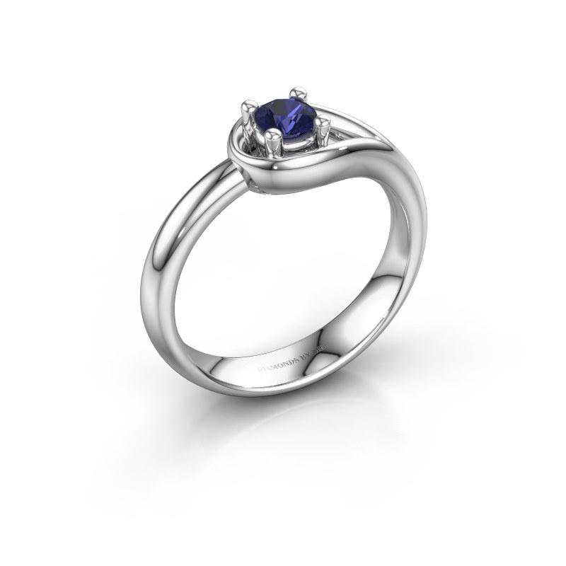 Ring Fabienne 950 platina saffier 4 mm
