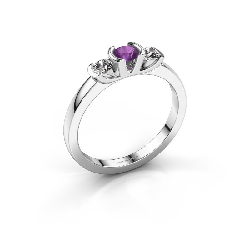 Ring Lucia 925 silver amethyst 3.7 mm