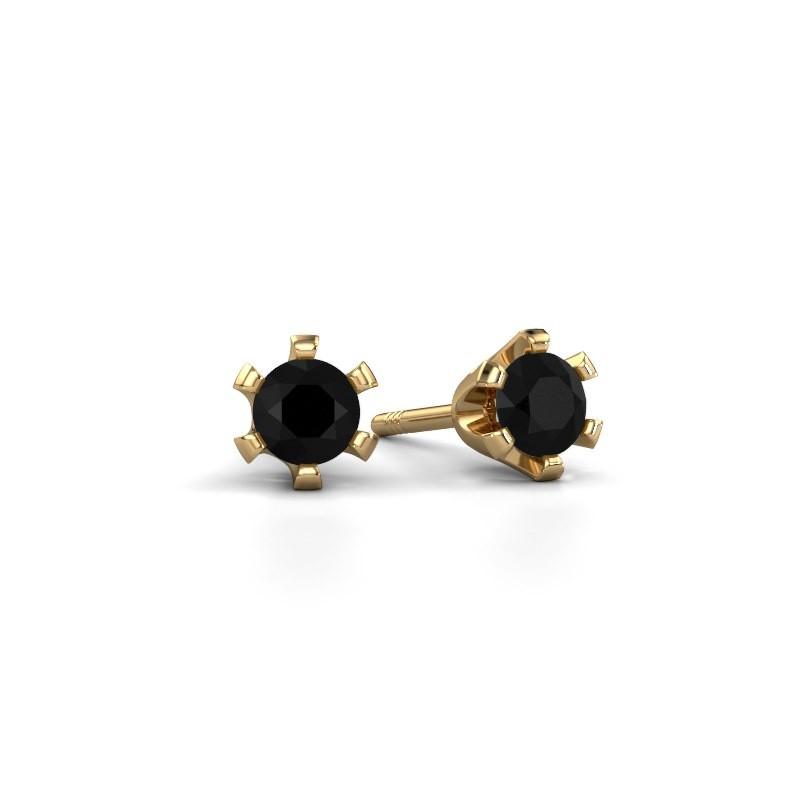 Oorstekers Shana 375 goud zwarte diamant 0.30 crt