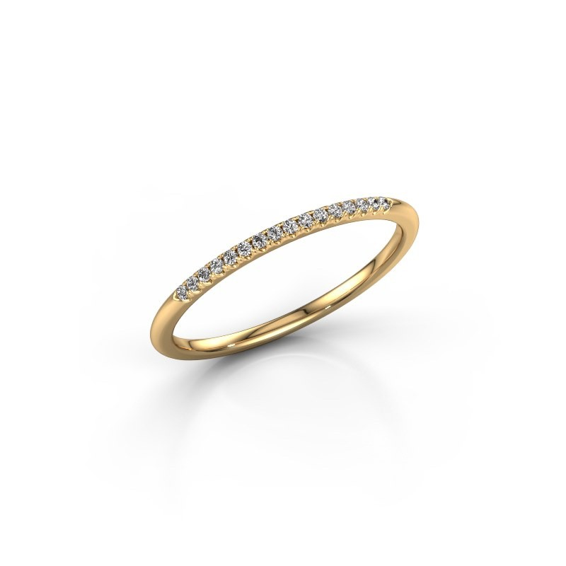 Stackable ring SR10B2H 375 gold diamond 0.08 crt