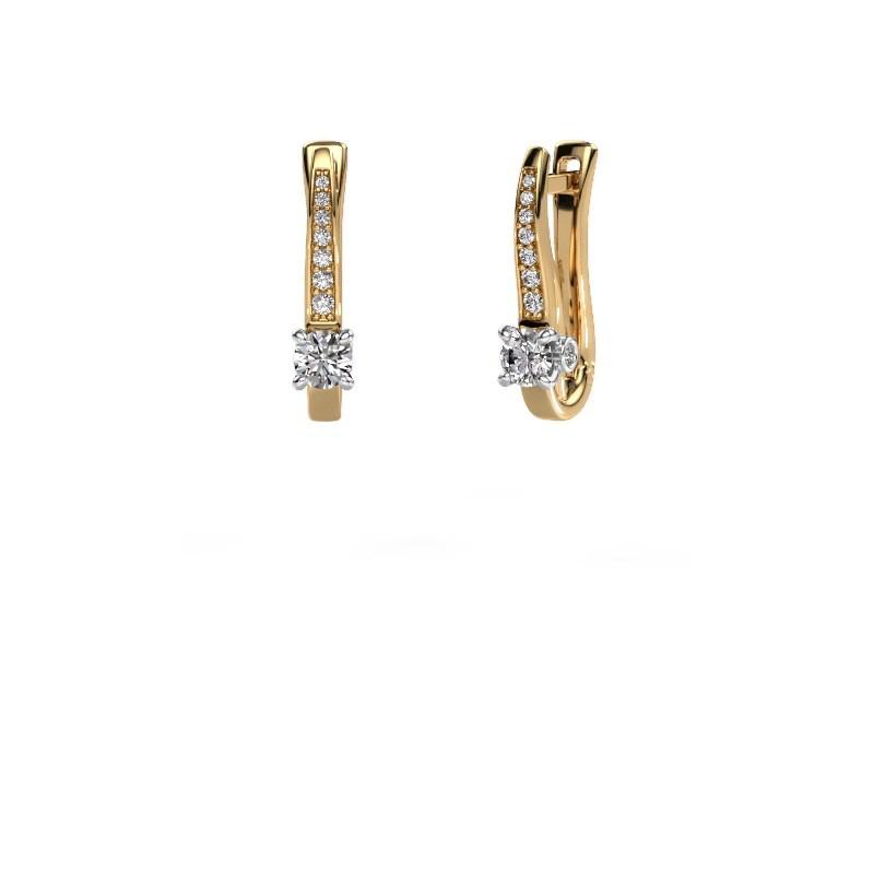 Oorbellen Valorie 585 goud diamant 0.68 crt