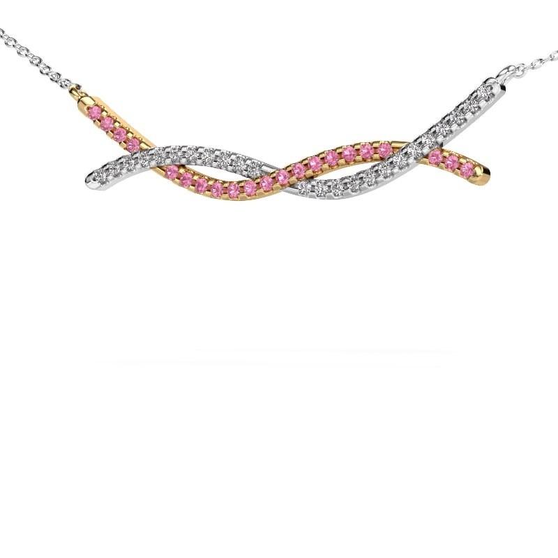 Bar Kette Breanne 585 Gold Pink Saphir 1.2 mm