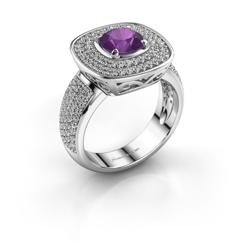 Ring Eliana 925 zilver amethist 6 mm