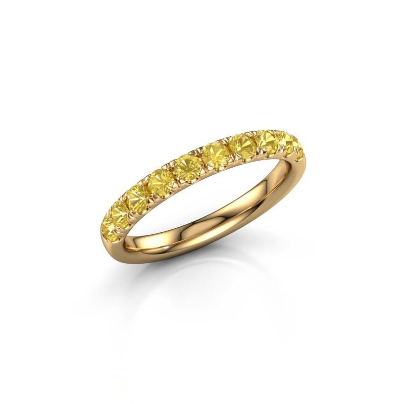 Aanschuifring Jackie Half 375 goud gele saffier 2.4 mm