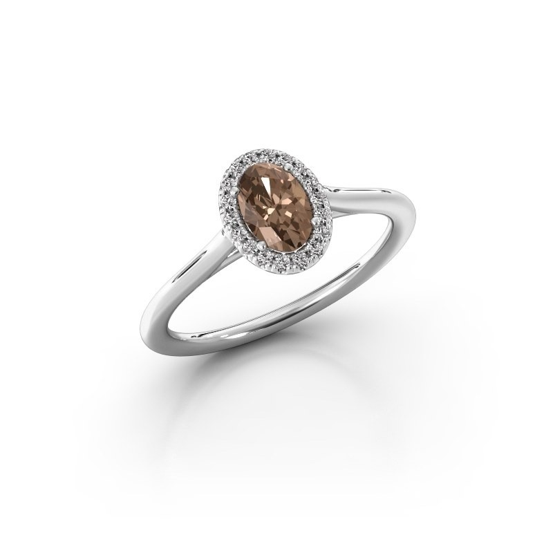 Verlobungsring Seline 1 950 Platin Braun Diamant 0.59 crt