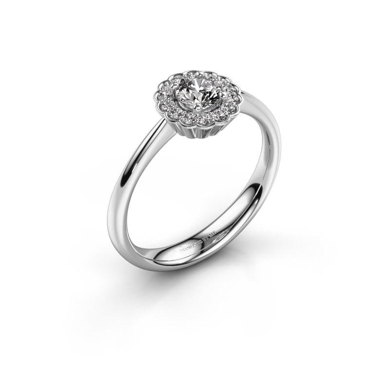 Verlovingsring Debi 925 zilver diamant 0.44 crt