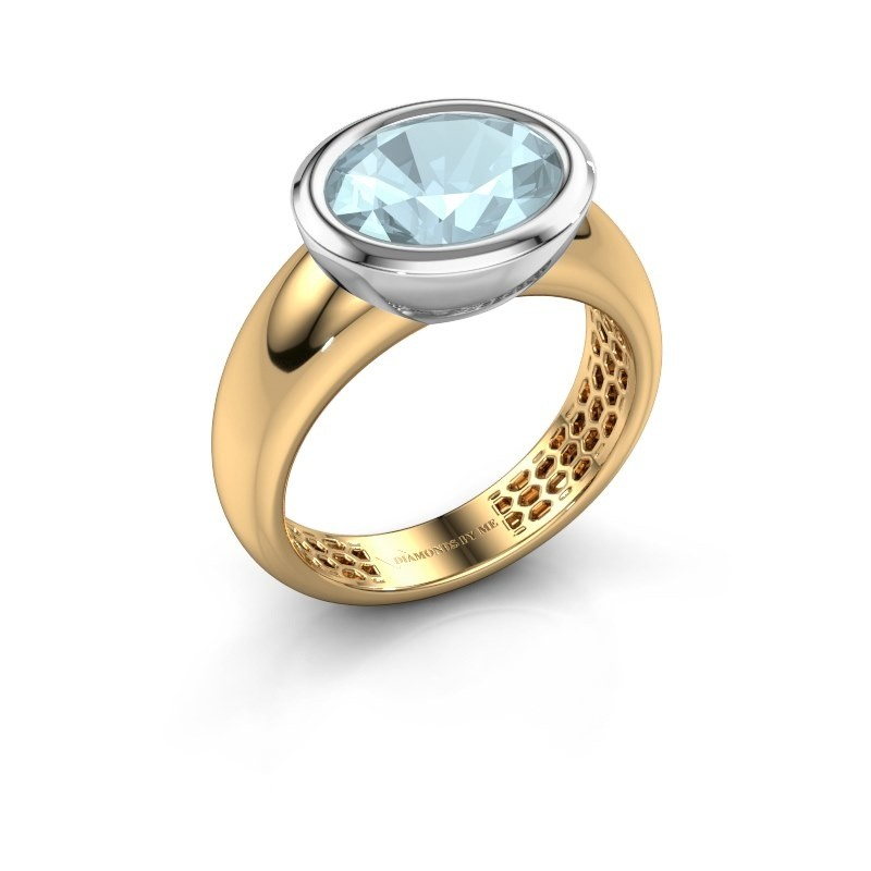 Ring Evelyne 585 gold aquamarine 10x8 mm