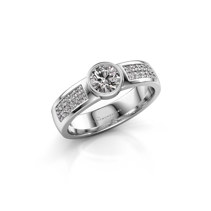 Engagement ring Ise 3 950 platinum diamond 0.55 crt