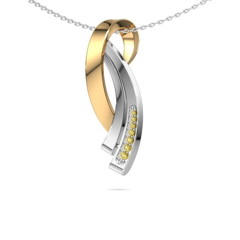 Ketting Lida 585 goud gele saffier 1 mm