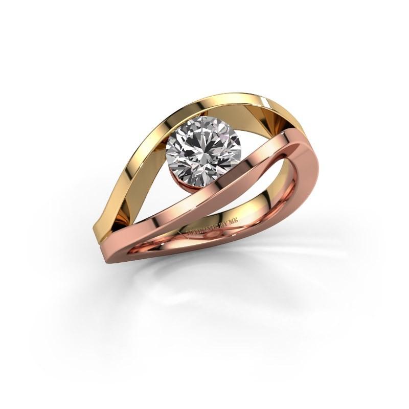 Engagement ring Sigrid 1 585 rose gold diamond 1.00 crt