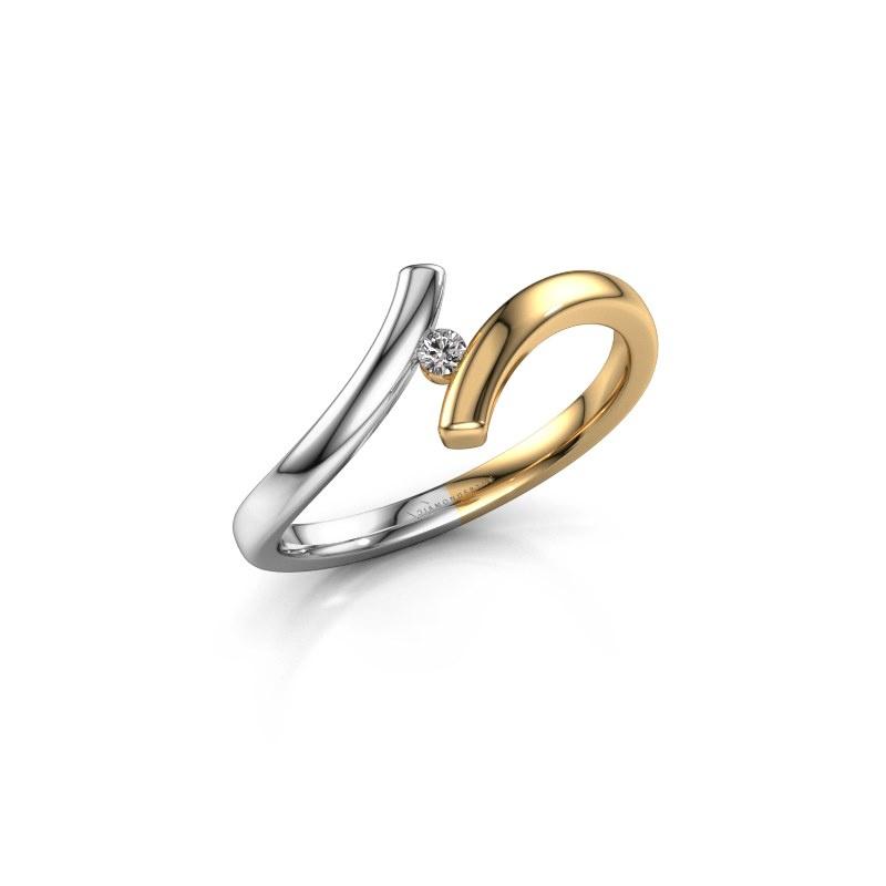 Ring Amy 585 goud diamant 0.03 crt