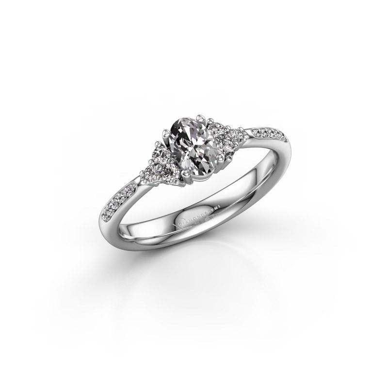 Engagement ring Aleida OVL 2 925 silver diamond 0.683 crt