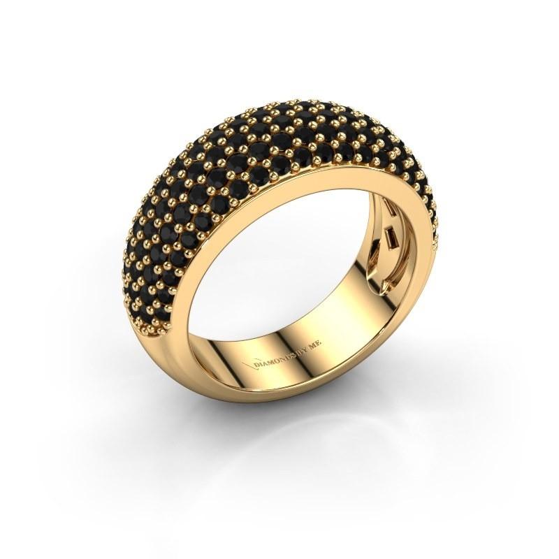 Ring Cristy 375 goud zwarte diamant 1.71 crt
