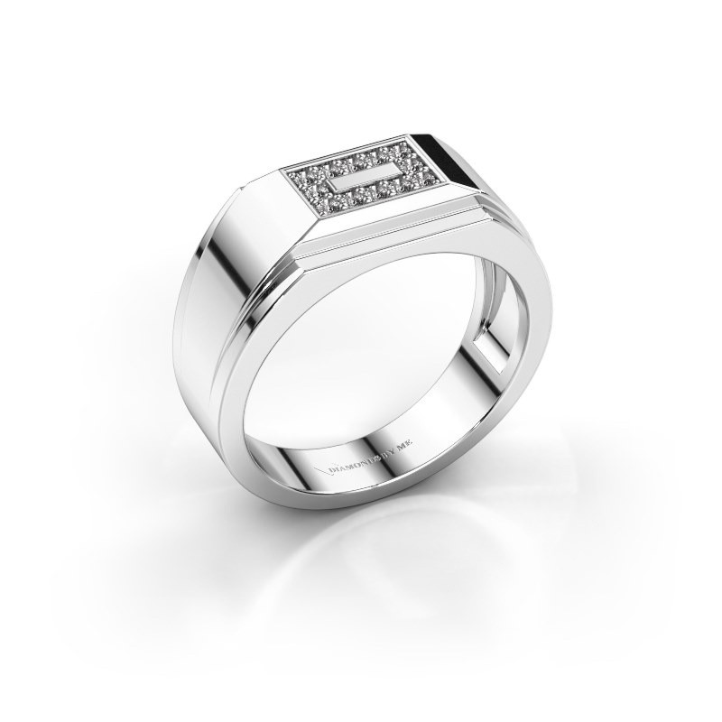 Men's ring Roan 925 silver diamond 0.18 crt