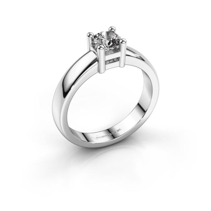 Promise ring Eline 1 585 witgoud diamant 0.40 crt