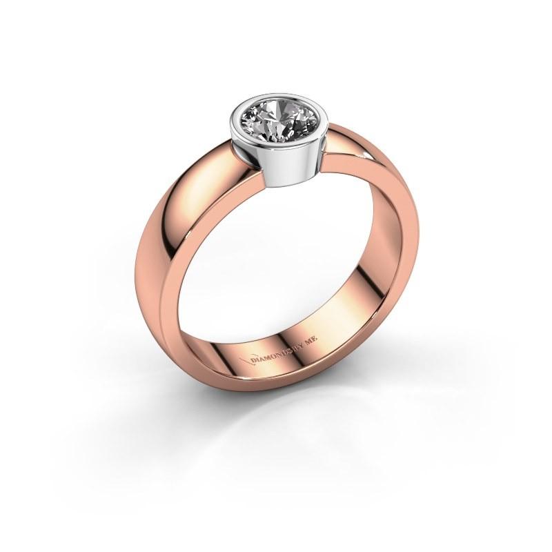 Ring Ise 1 585 rosé goud diamant 0.40 crt