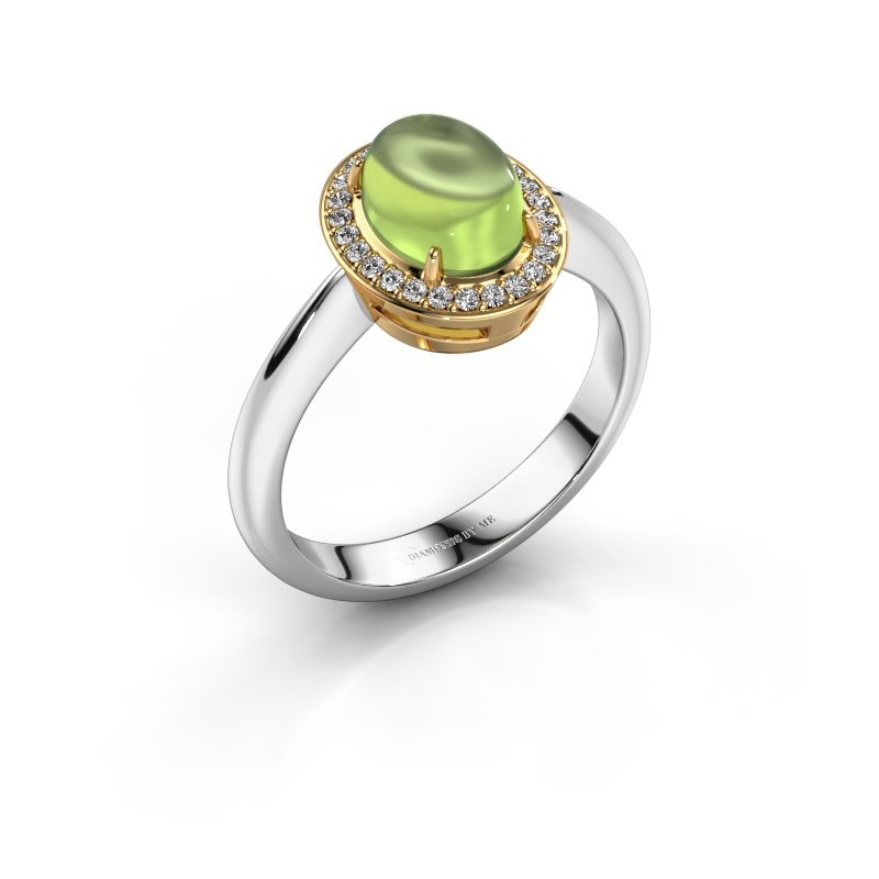Ring Kristian 585 white gold peridot 8x6 mm