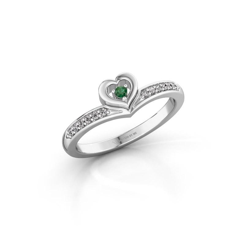 Ring Mimi 585 Weißgold Smaragd 2 mm