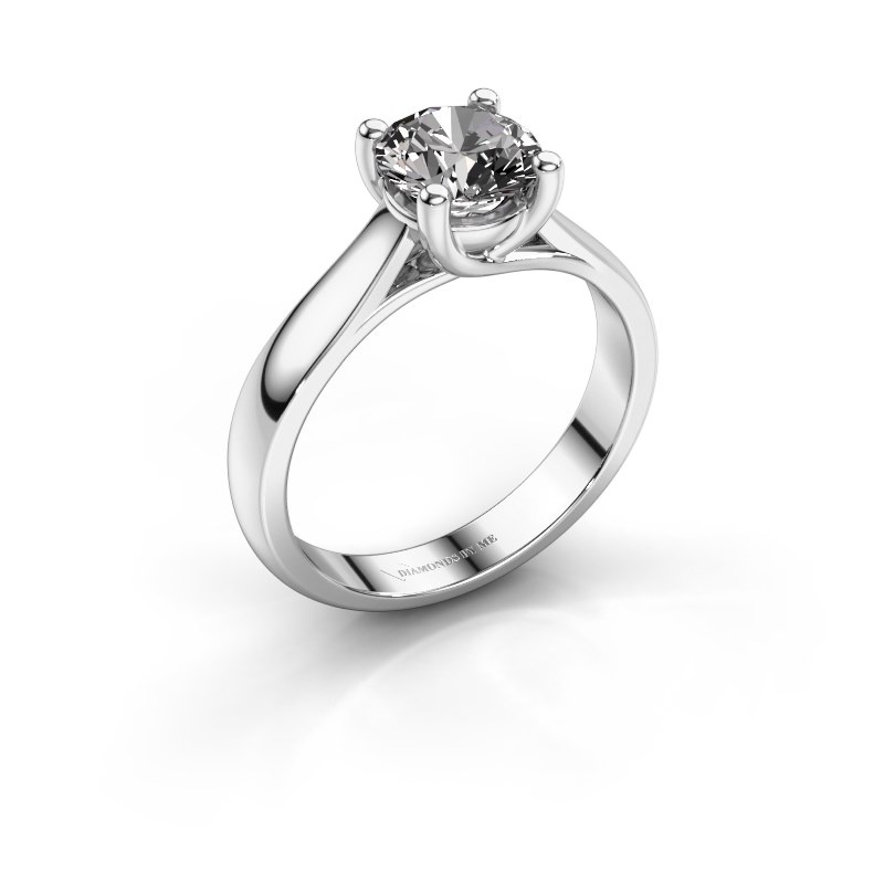 Verlobungsring Mia 1 585 Weißgold Diamant 1.00 crt