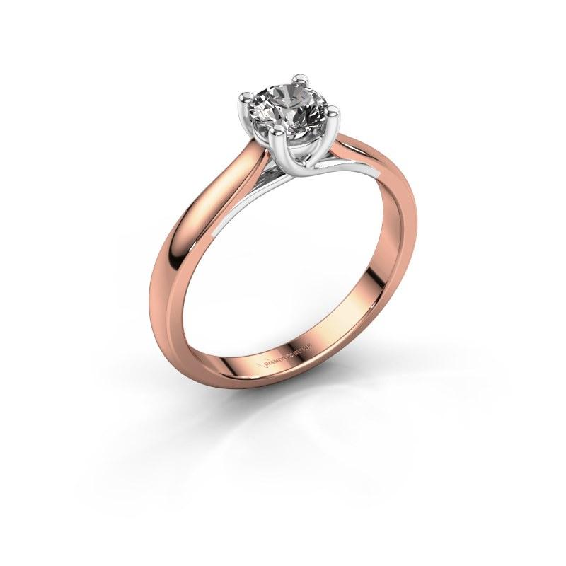 Bague de fiançailles Mia 1 585 or rose diamant 0.40 crt