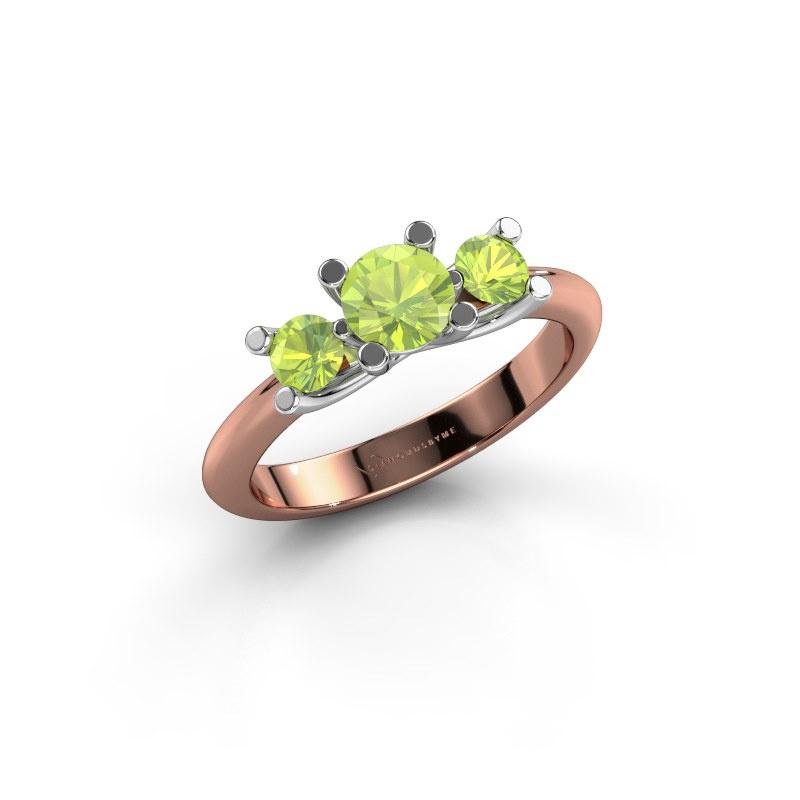 Ring Mirthe 585 rose gold peridot 5 mm