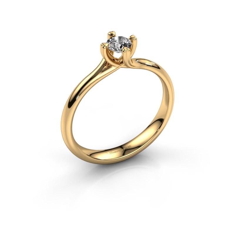 Verlobungsring Livia 585 Gold Diamant 0.25 crt