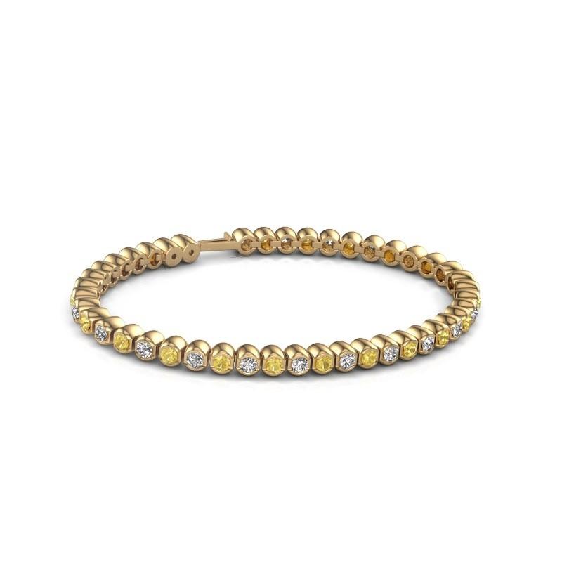 Tennisarmband Asley 375 goud gele saffier 3 mm