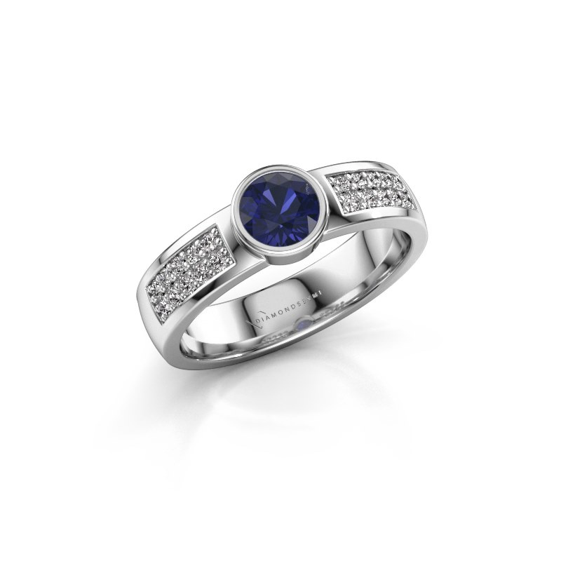 Engagement ring Ise 3 950 platinum sapphire 4.7 mm
