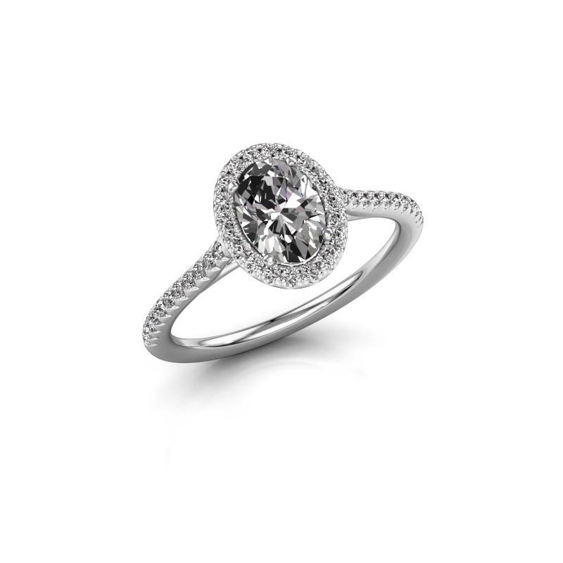 Engagement ring Seline 2 950 platinum lab created 1.081 crt