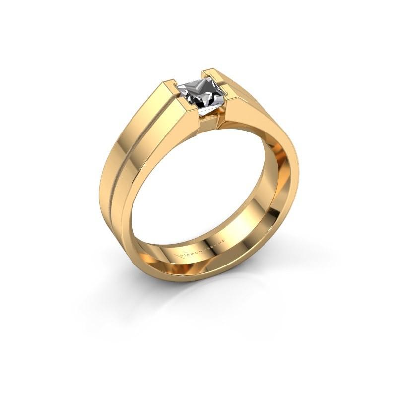 Heren ring Stefan 585 goud diamant 0.50 crt