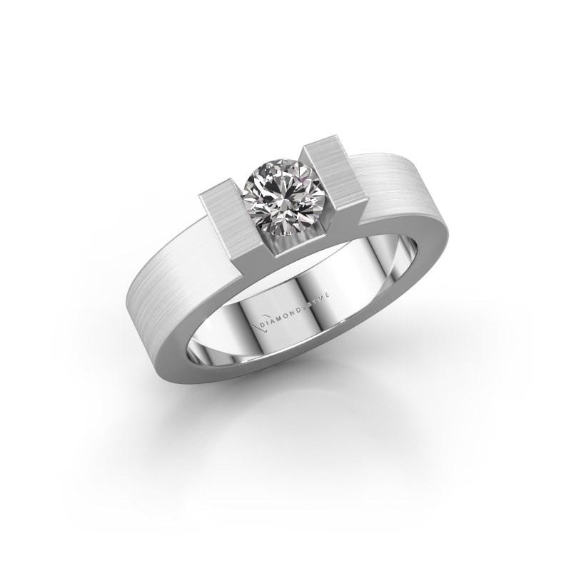 Ring Leena 1 585 witgoud diamant 0.50 crt