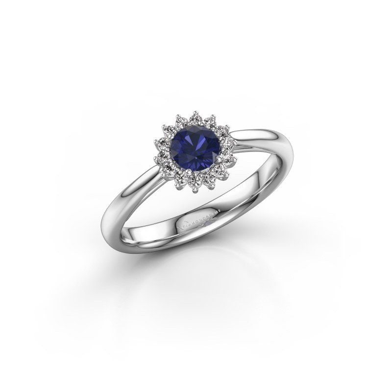 Engagement ring Tilly RND 1 585 white gold sapphire 4.2 mm