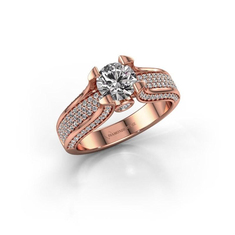 Verlovingsring Jeanne 2 375 rosé goud diamant 1.592 crt
