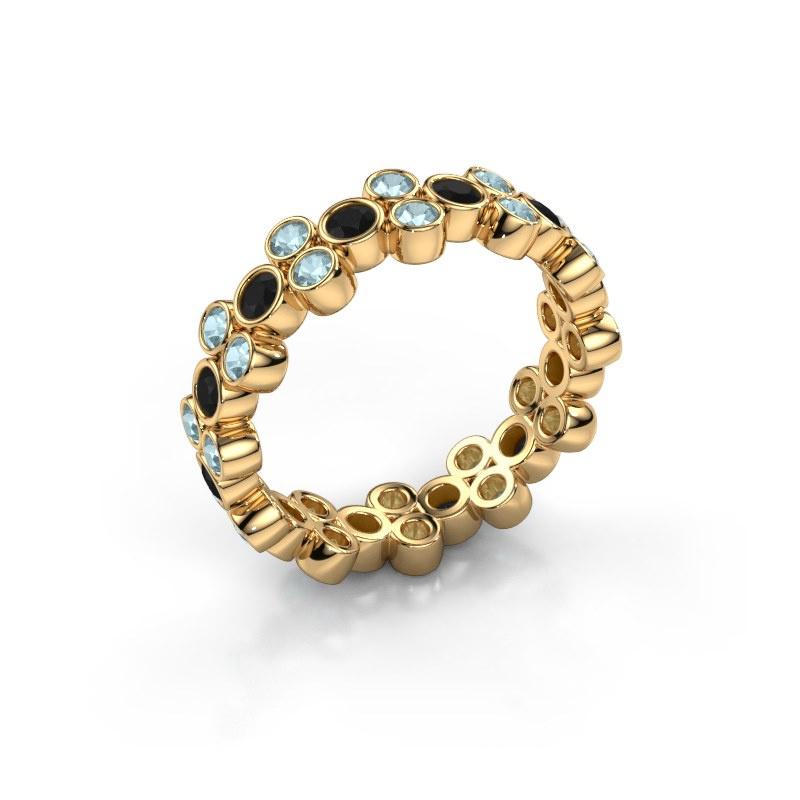 Ring Victoria 585 Gold Schwarz Diamant 0.792 crt