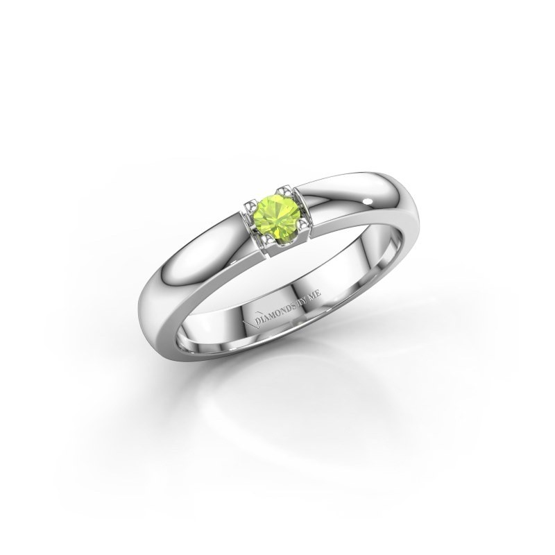 Engagement ring Rianne 1 585 white gold peridot 3 mm