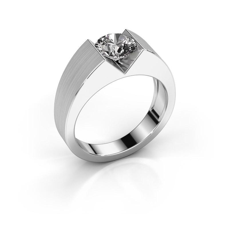 Verlovingsring Lizzy 1 585 witgoud diamant 1.00 crt