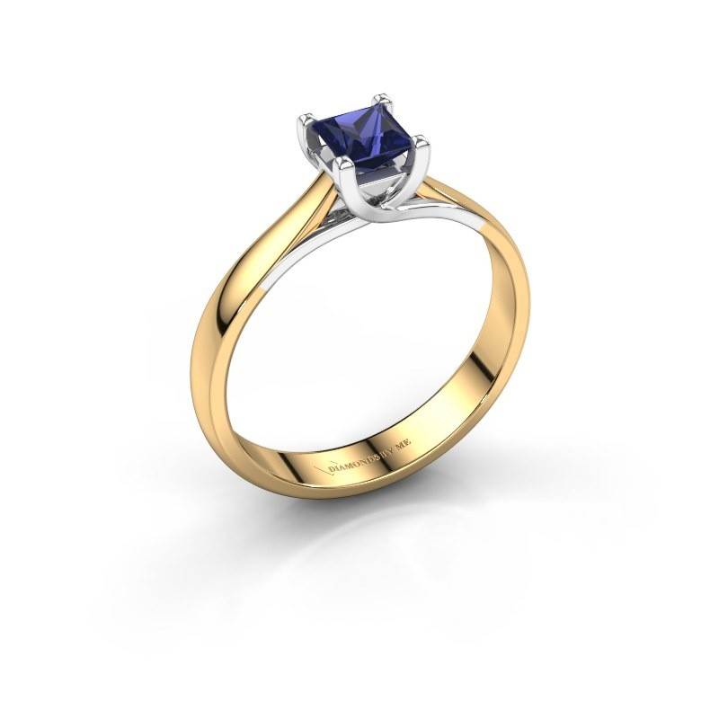 Engagement ring Mia Square 585 gold sapphire 4 mm