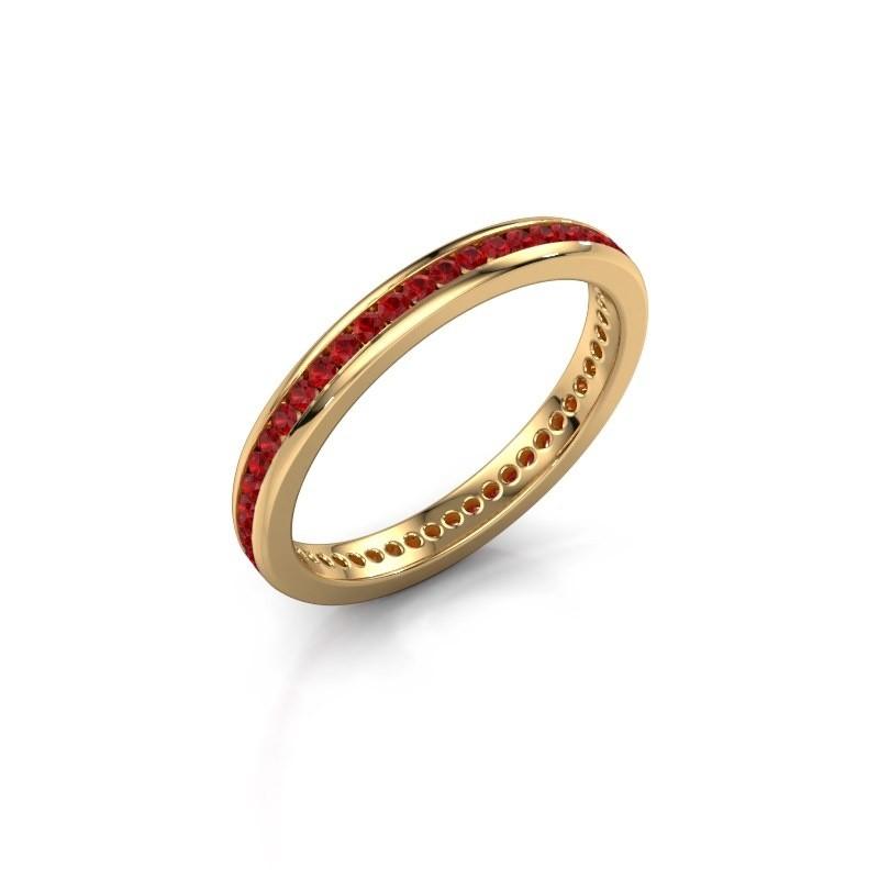 Aanschuifring Lura 1 375 goud robijn 1.3 mm