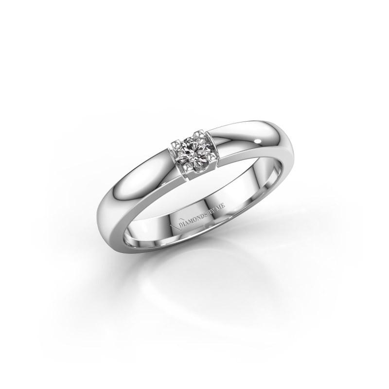Engagement ring Rianne 1 585 white gold lab-grown diamond 0.10 crt