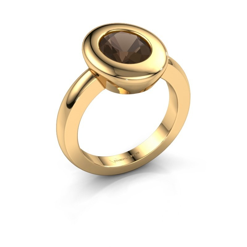 Ring Selene 1 585 goud rookkwarts 9x7 mm