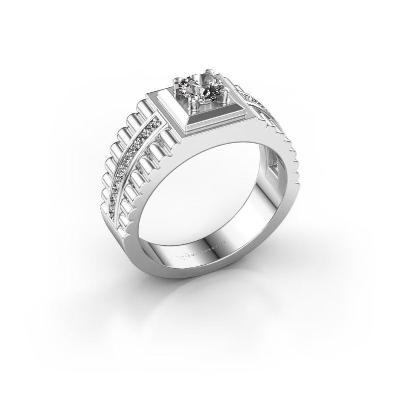Men's ring Maikel 585 white gold diamond 0.74 crt