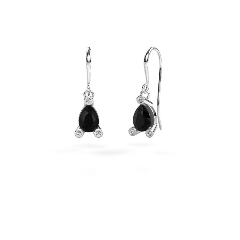 Oorhangers Bunny 1 375 witgoud zwarte diamant 1.605 crt