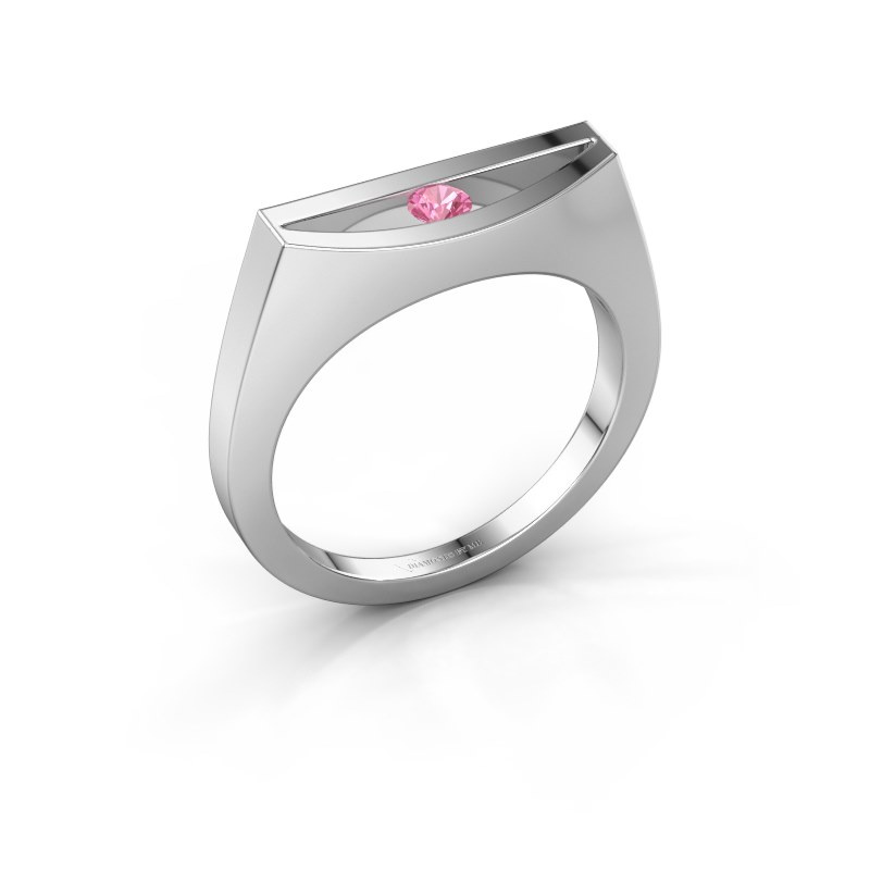 Ring Milou 925 silver pink sapphire 3 mm
