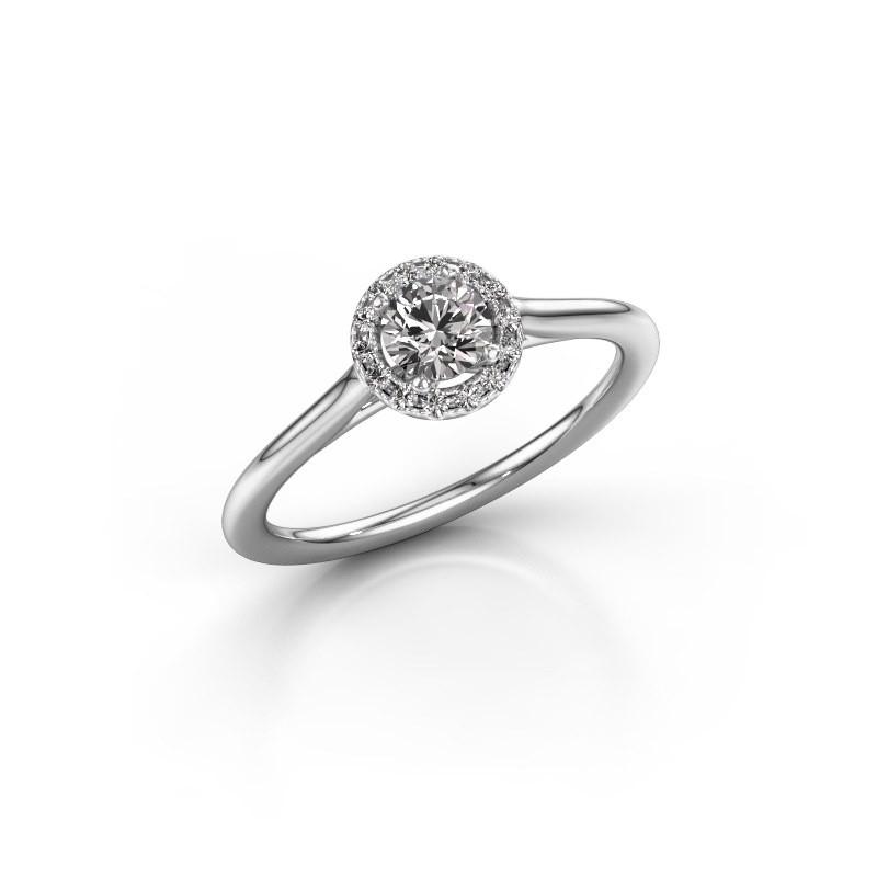 Engagement ring Seline rnd 1 925 silver diamond 0.344 crt