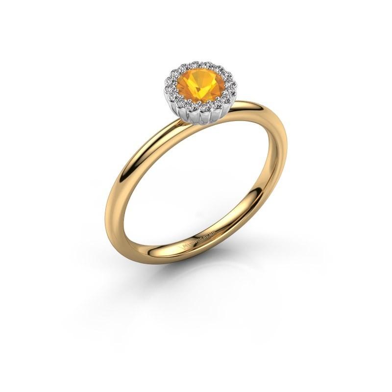Verlovingsring Queen 585 goud citrien 4.2 mm